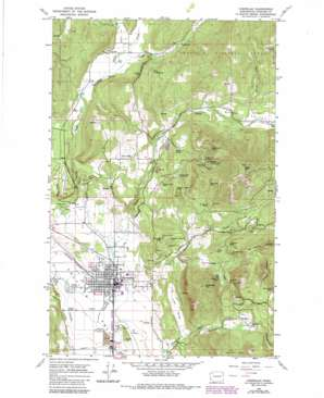 Chewelah topo map