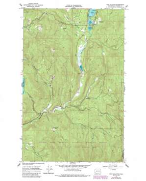Lake Gillette topo map