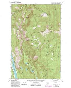 Scotchman Lake topo map