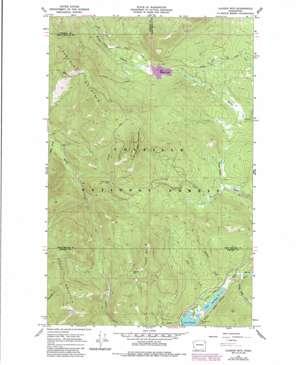 Aladdin Mountain topo map