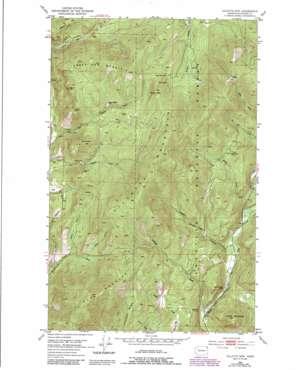 Gillette Mountain topo map