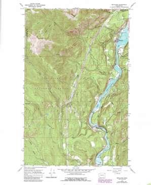 Metaline topo map