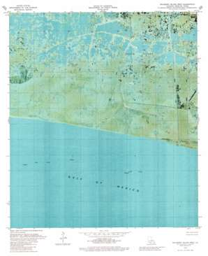Mulberry Island West topo map