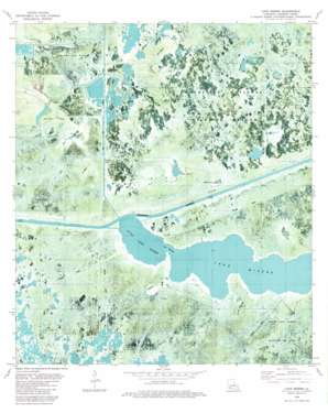 Lake Misere USGS topographic map 29092h8