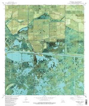 Boudreaux Lake topo map