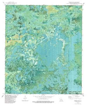 Greens Bayou topo map