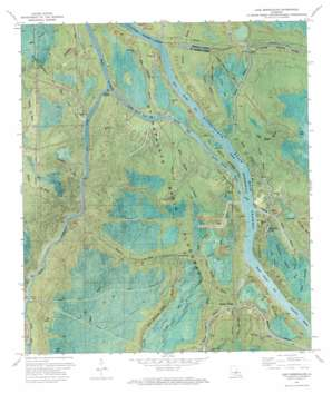 Lake Mongoulois topo map