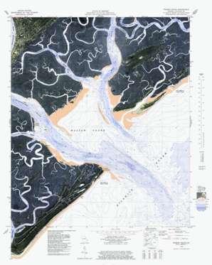 Wassaw Sound topo map