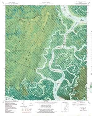 Oak Level topo map