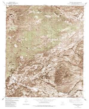 Pipeline Canyon topo map