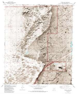 Garton Lake topo map