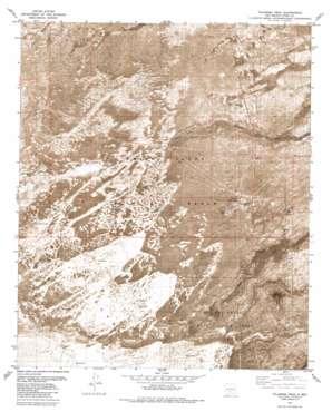 Tularosa Peak topo map