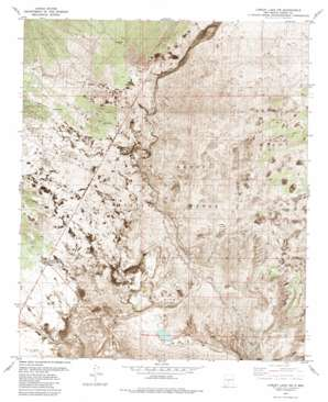 Lumley Lake Nw topo map