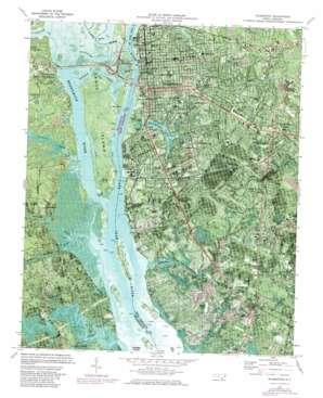 Wilmington topo map