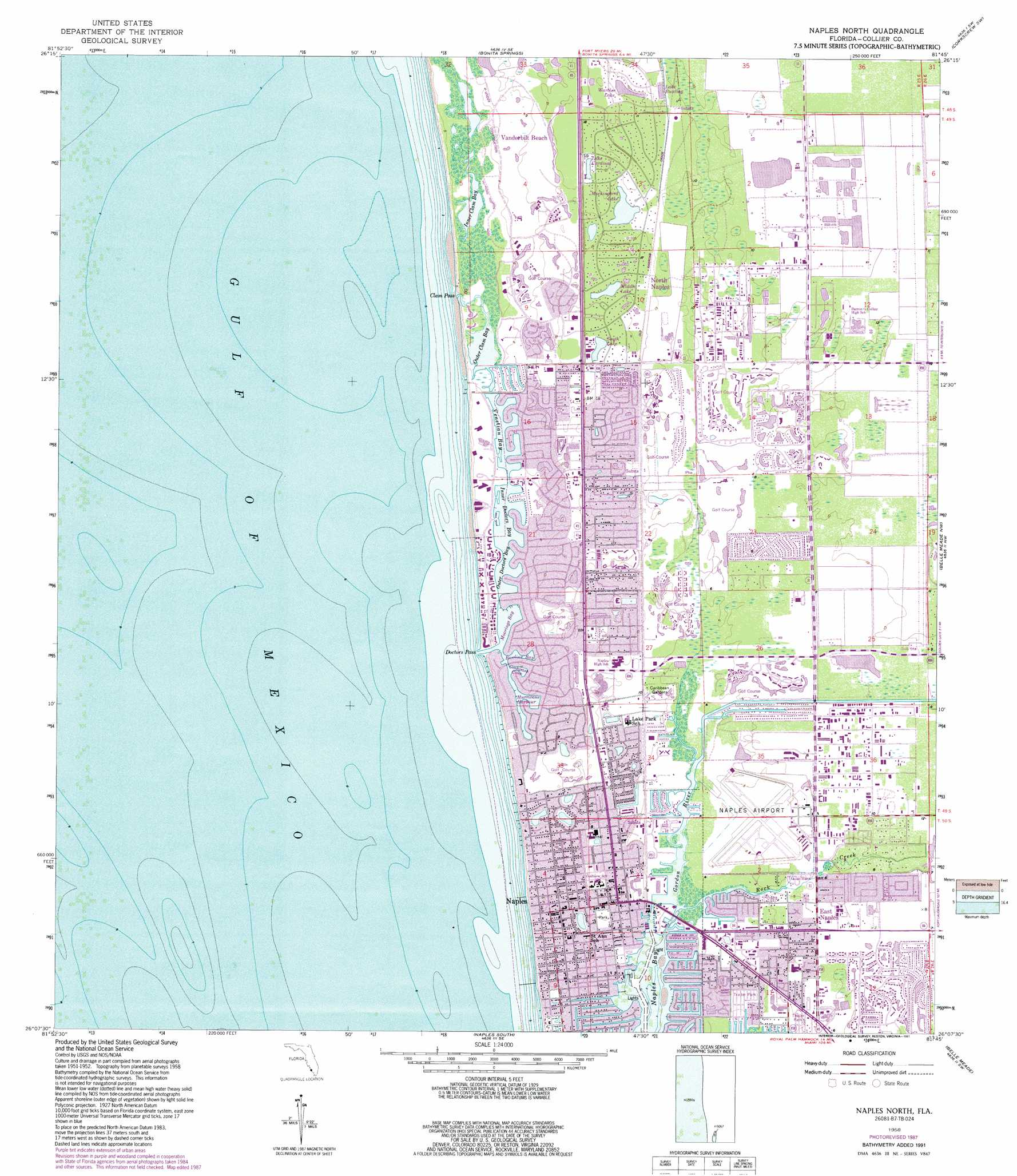 Naples North topographic map, FL - USGS Topo Quad 26081b7