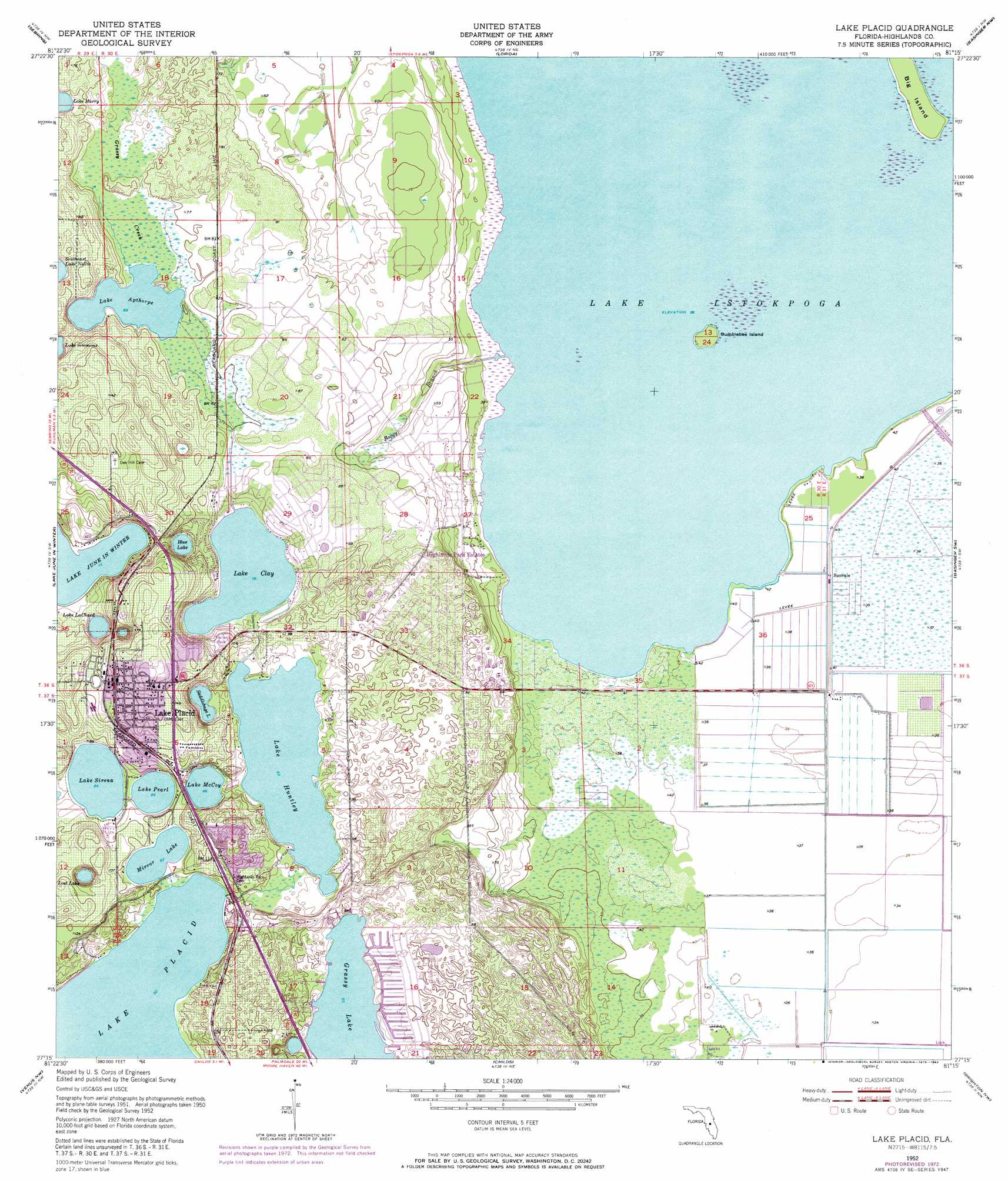 Lake Placid topographic map, FL - USGS Topo Quad 27081c3