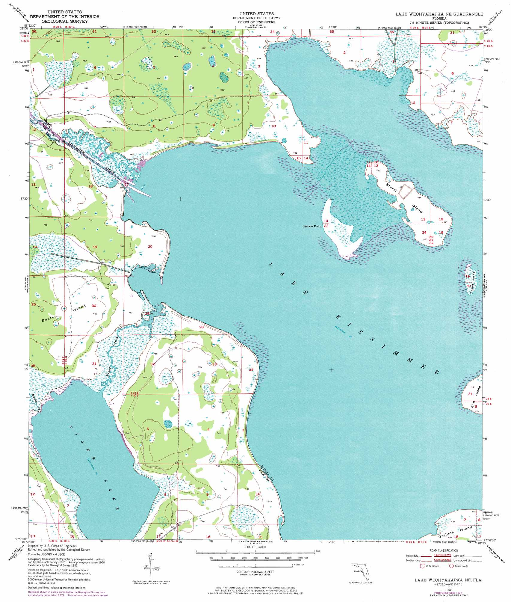 Lake Weohyakapka Ne Topographic Map Fl Usgs Topo Quad
