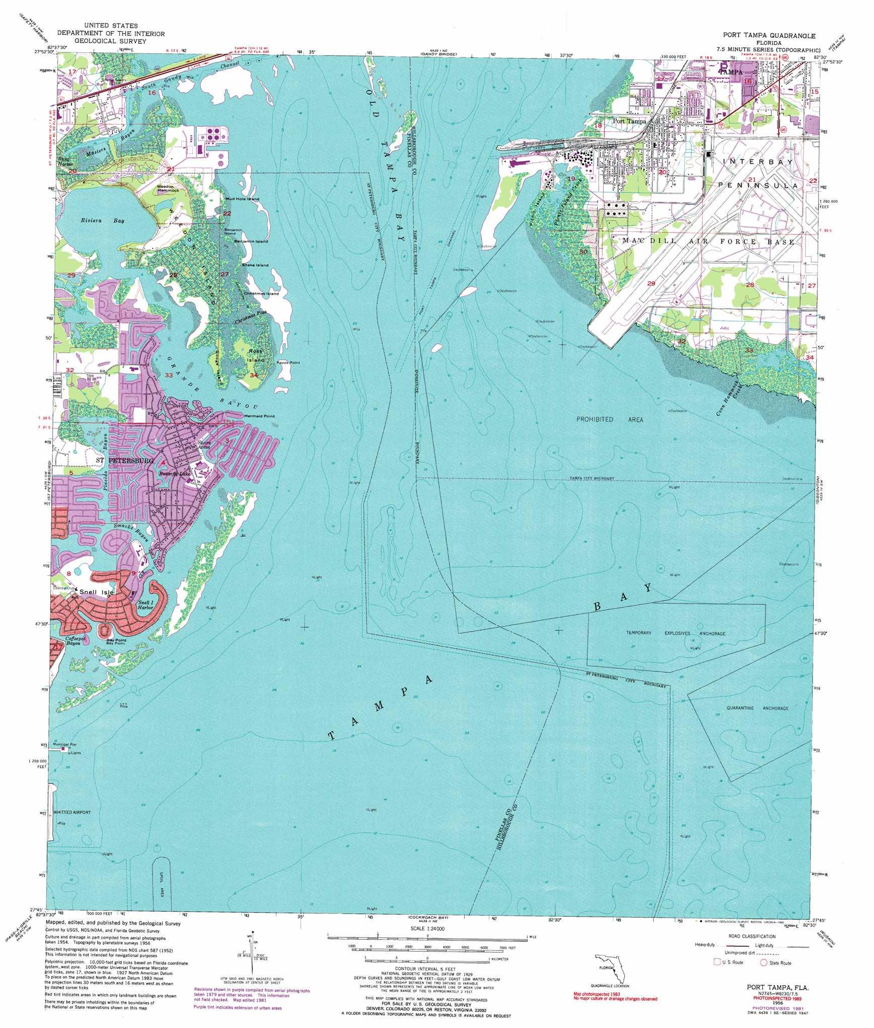 Tampa Topographic Map.Port Tampa Topographic Map Fl Usgs Topo Quad 27082g5