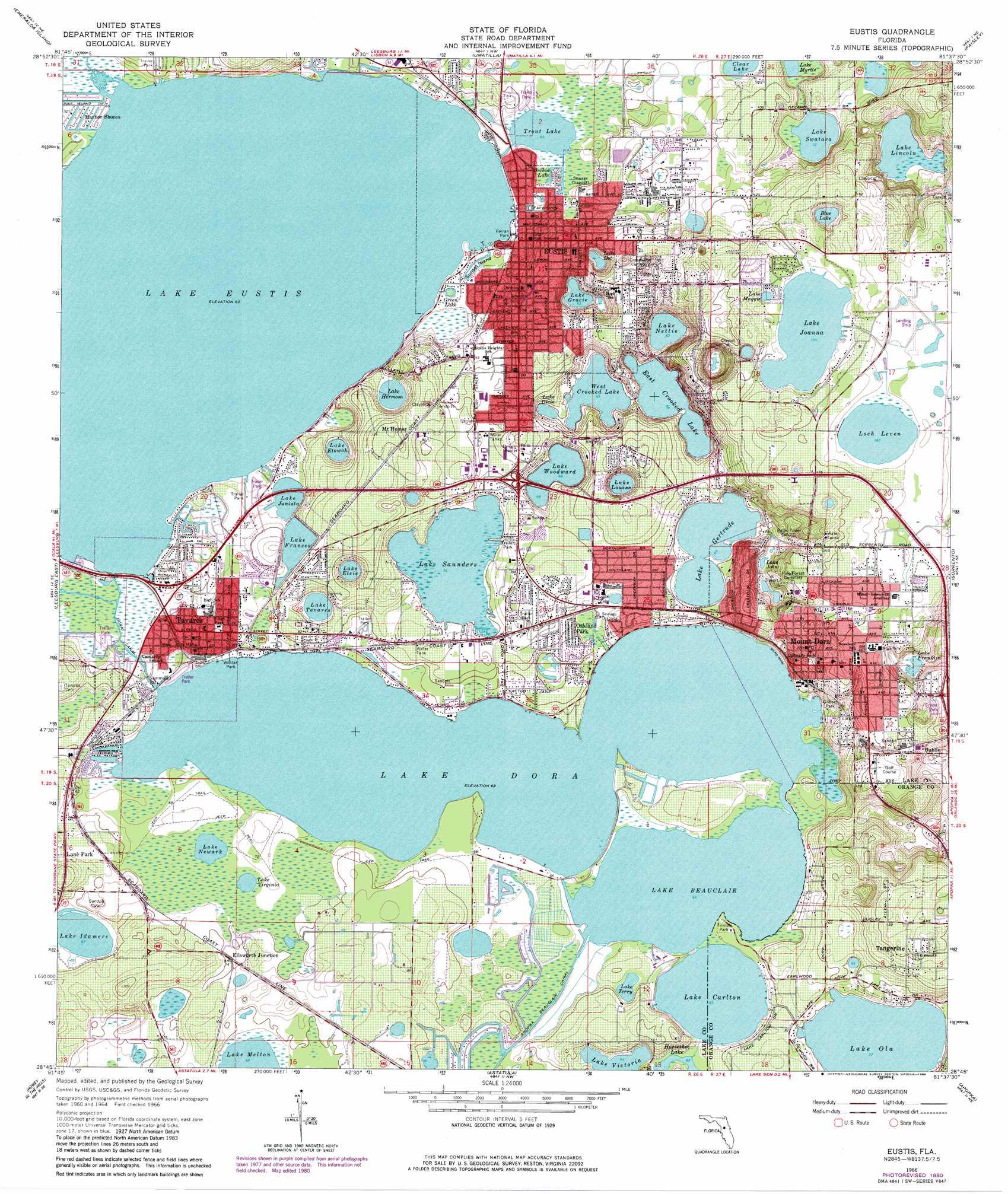 Eustis topographic map, FL - USGS Topo Quad 28081g6