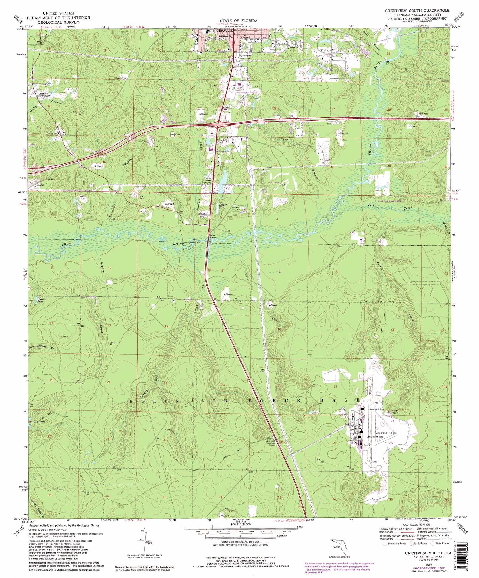 Topographical Map Of Florida.Crestview South Topographic Map Fl Usgs Topo Quad 30086f5