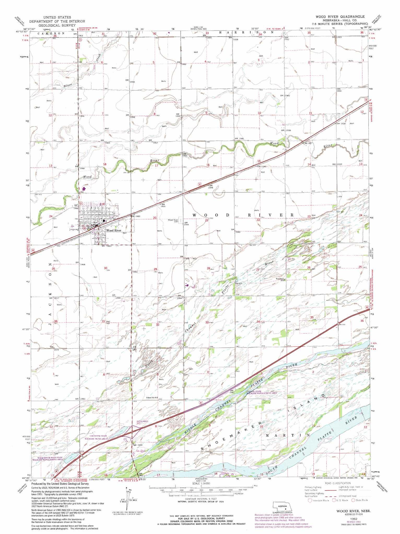 Wood river topographic map ne usgs topo quad 40098g5 wood river buycottarizona Image collections