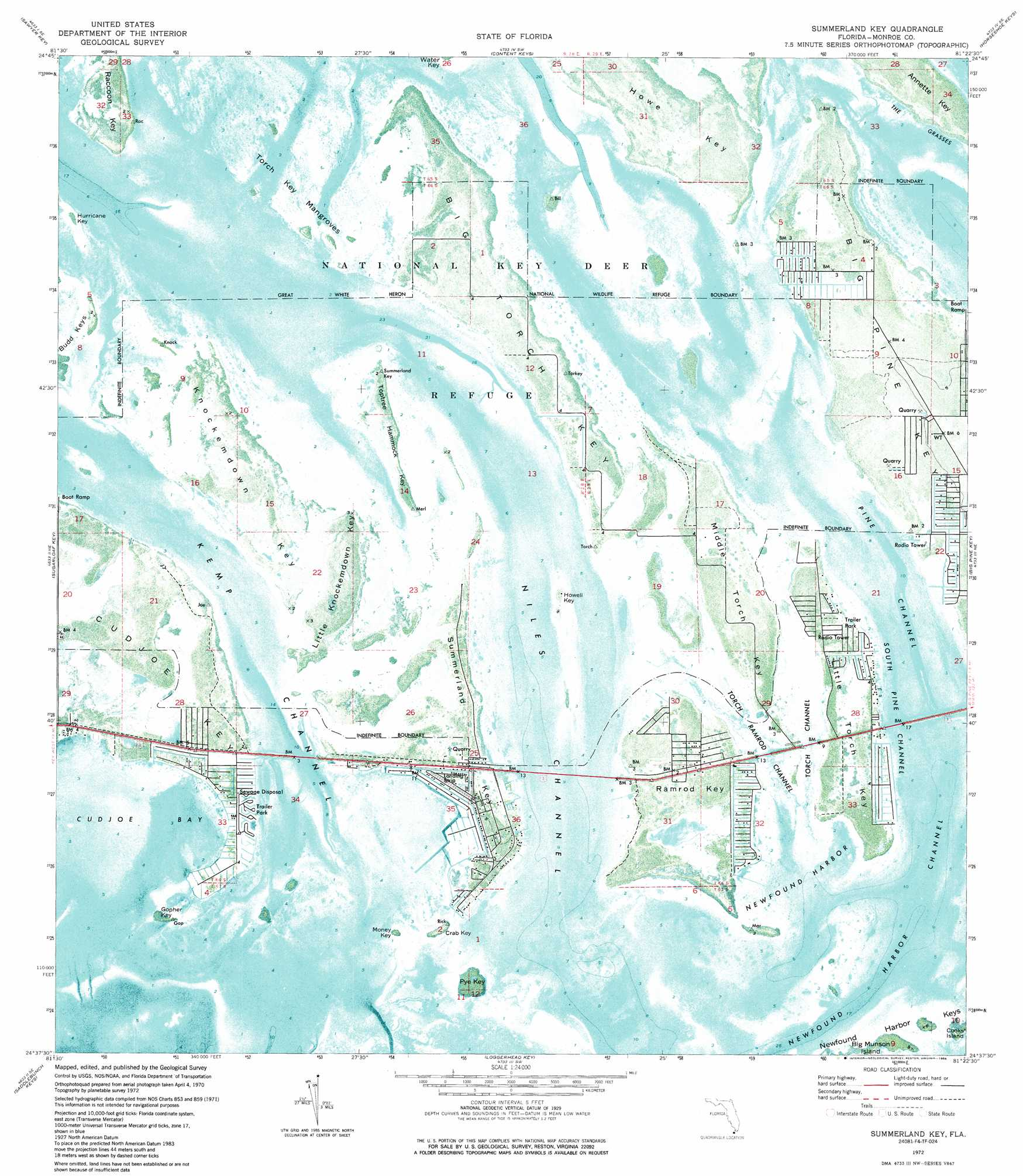 Summerland Key topographic map, FL - USGS Topo Quad 24081f4