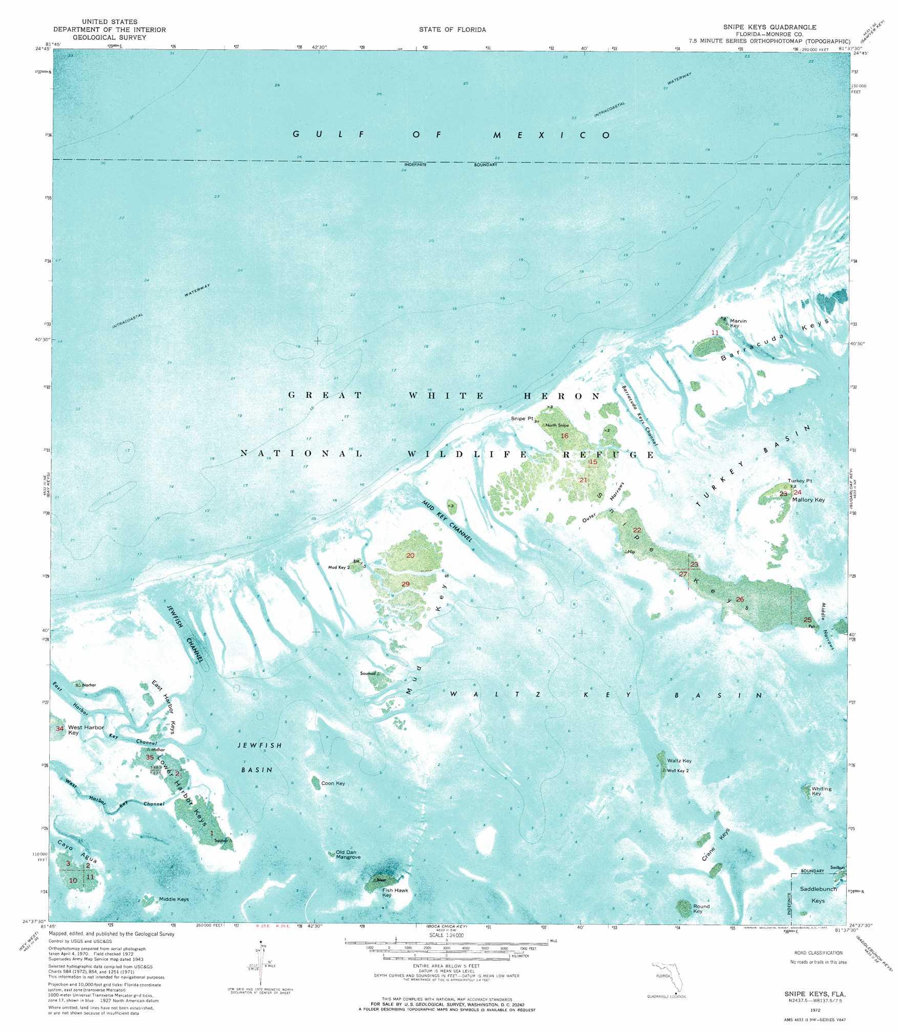 Snipe Keys Topographic Map Fl Usgs Topo Quad 24081f6
