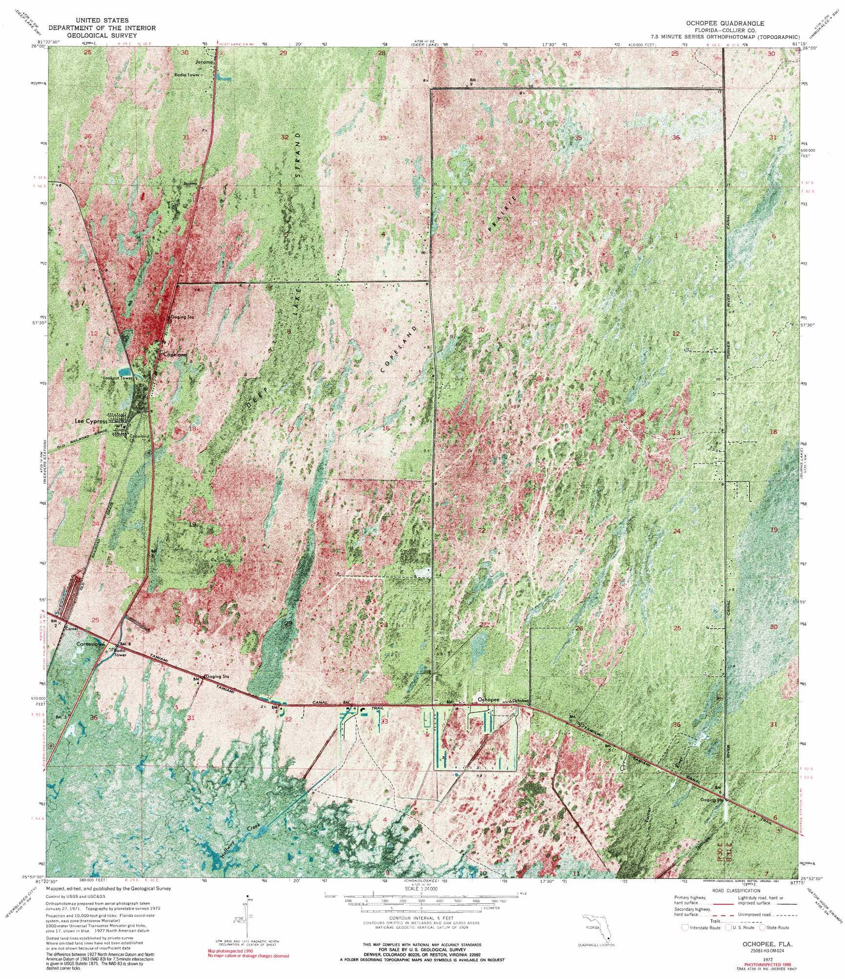 Ochopee Florida Map.Ochopee Topographic Map Fl Usgs Topo Quad 25081h3