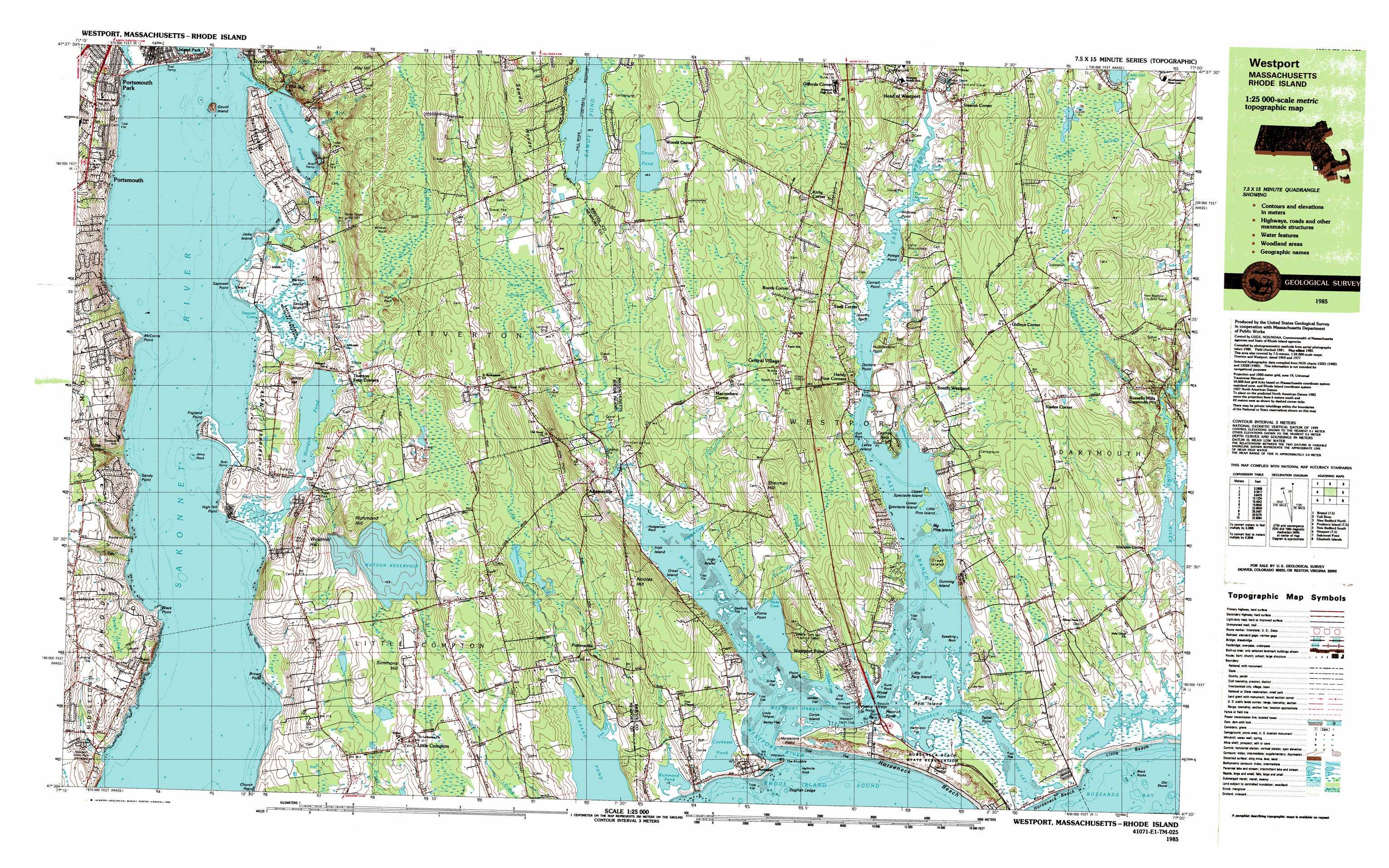 Westport Topographic Map Ma Ri Usgs Topo Quad 41071e1