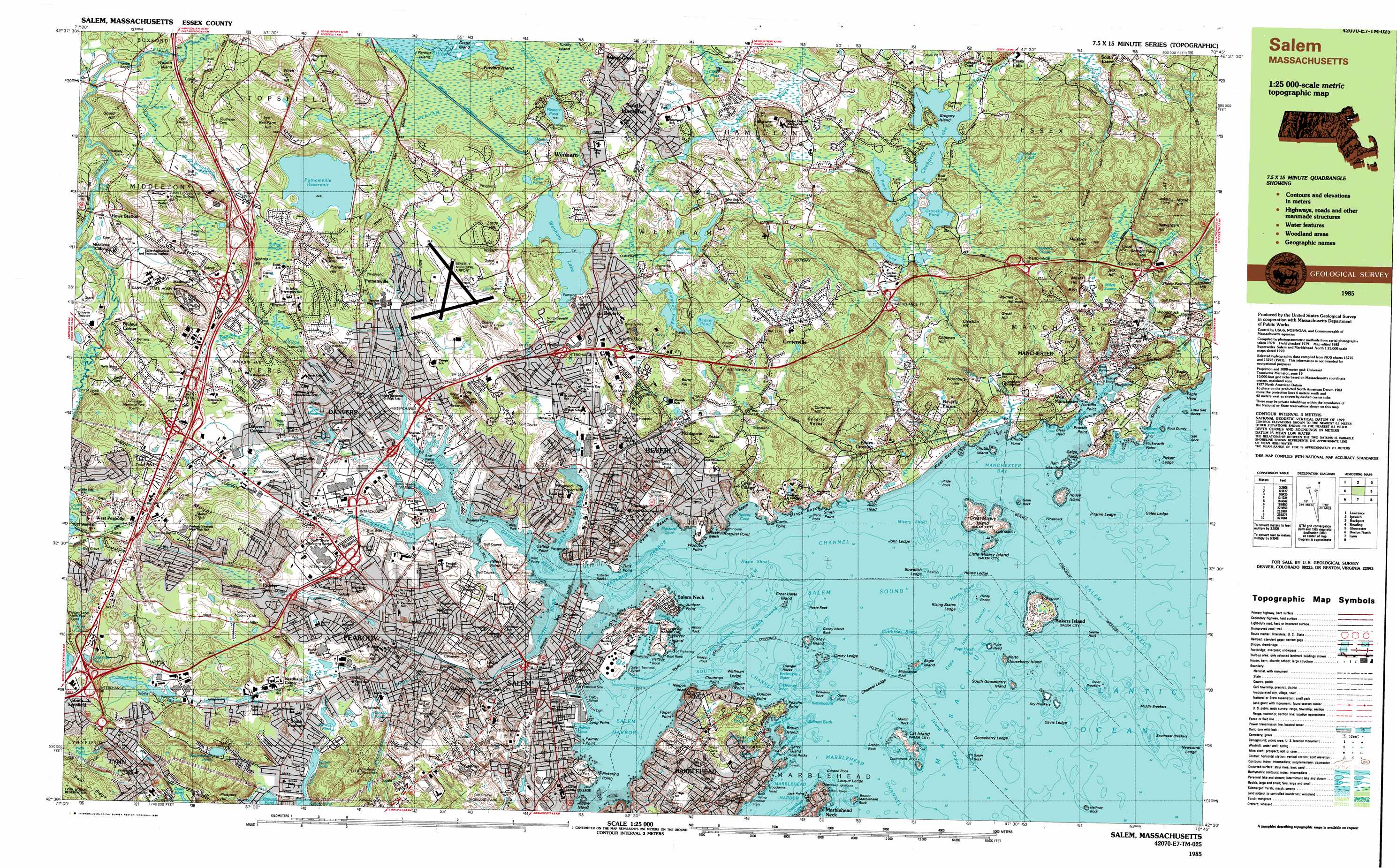 Salem Topographic Map MA USGS Topo Quad E - Eastern us topographic map