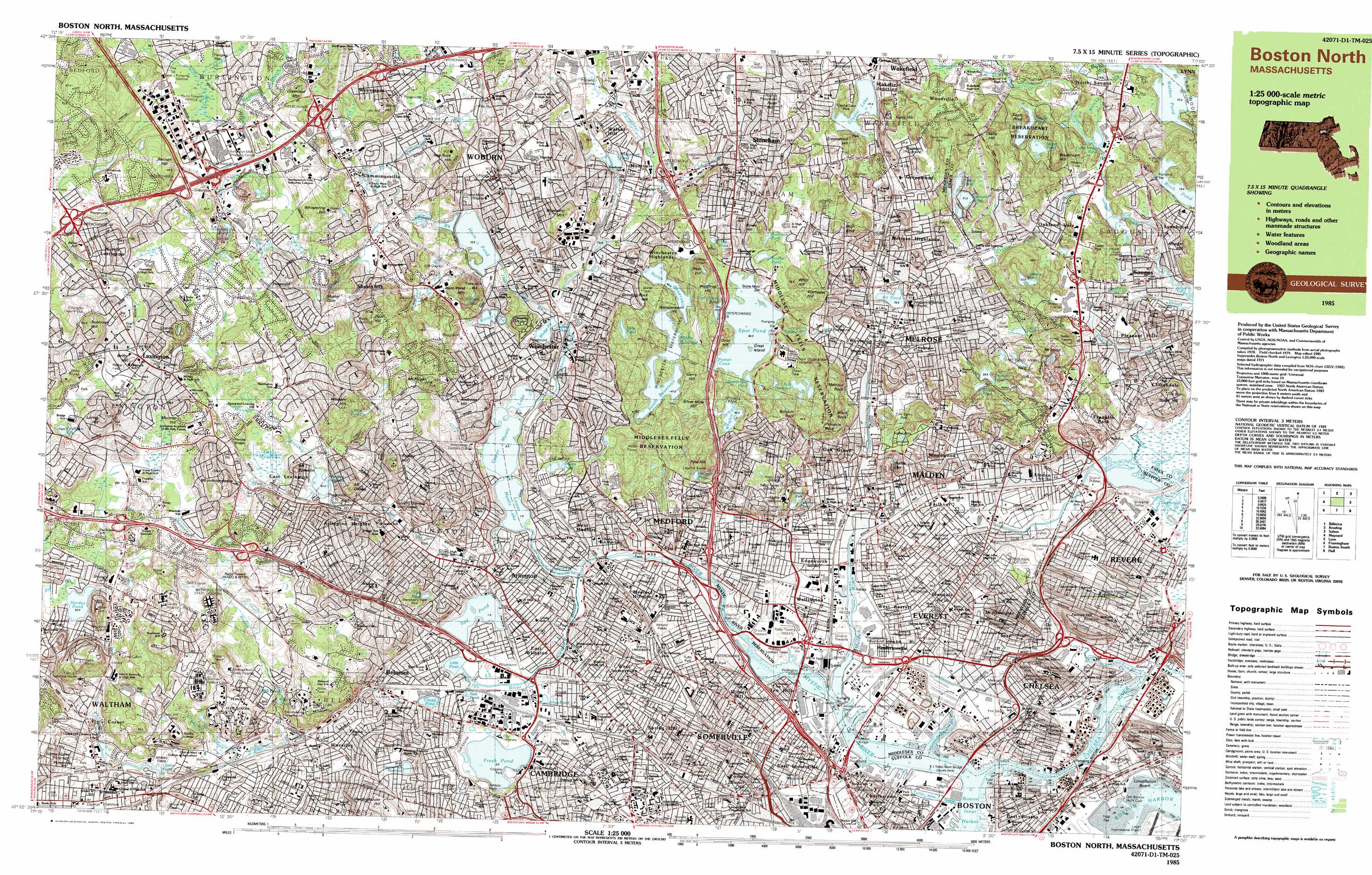 boston north. boston north topographic map ma  usgs topo quad d