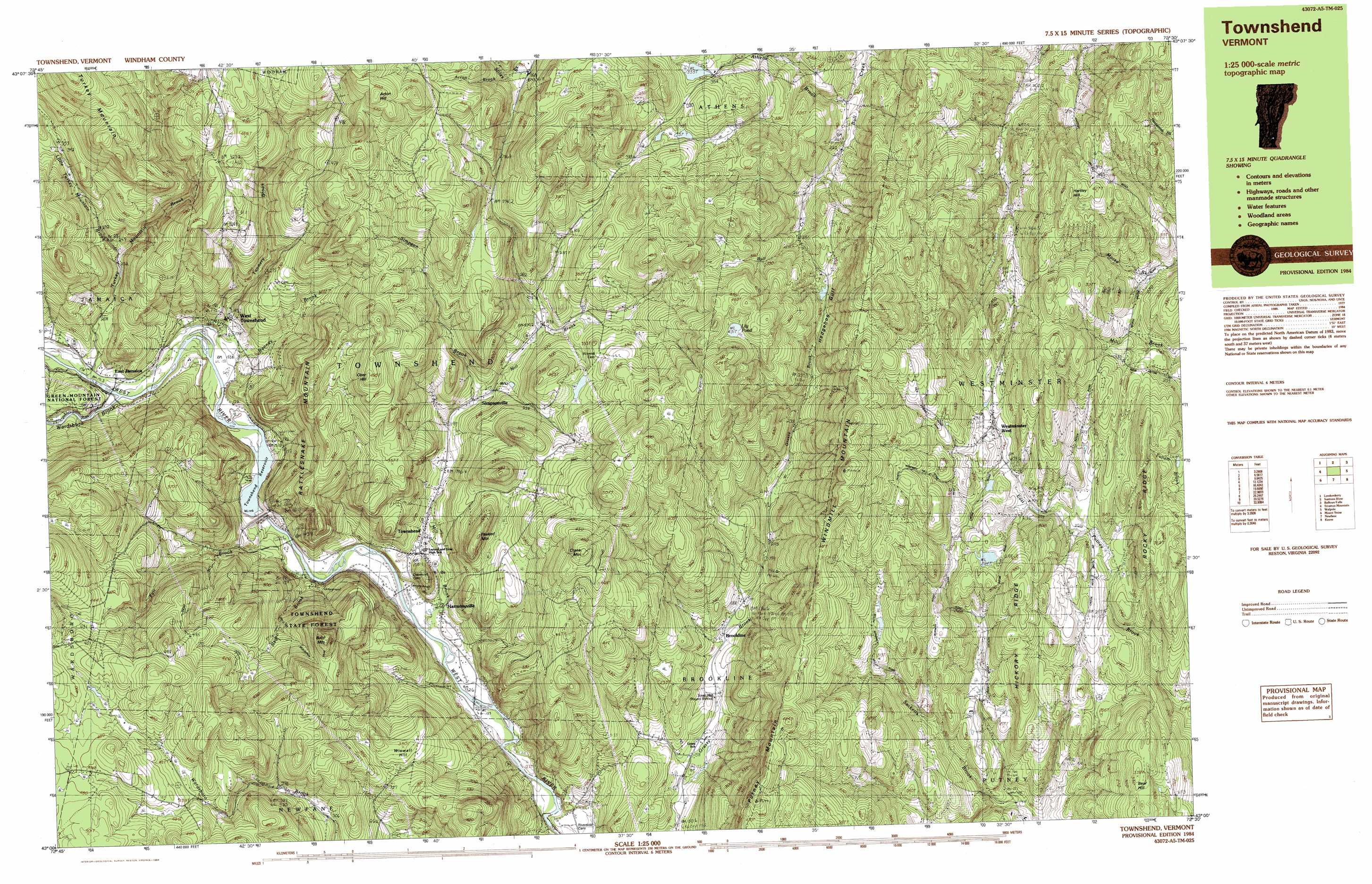 Westminster West topographic map VT USGS Topo Quad 43072a5