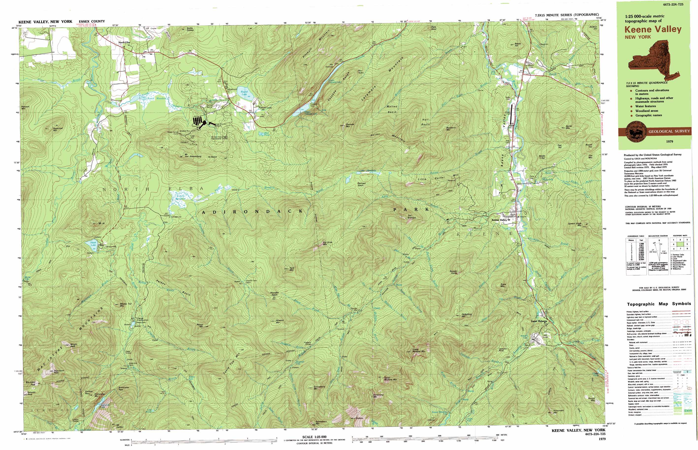 Keene Valley Topographic Map NY USGS Topo Quad B - Where to buy us topo maps