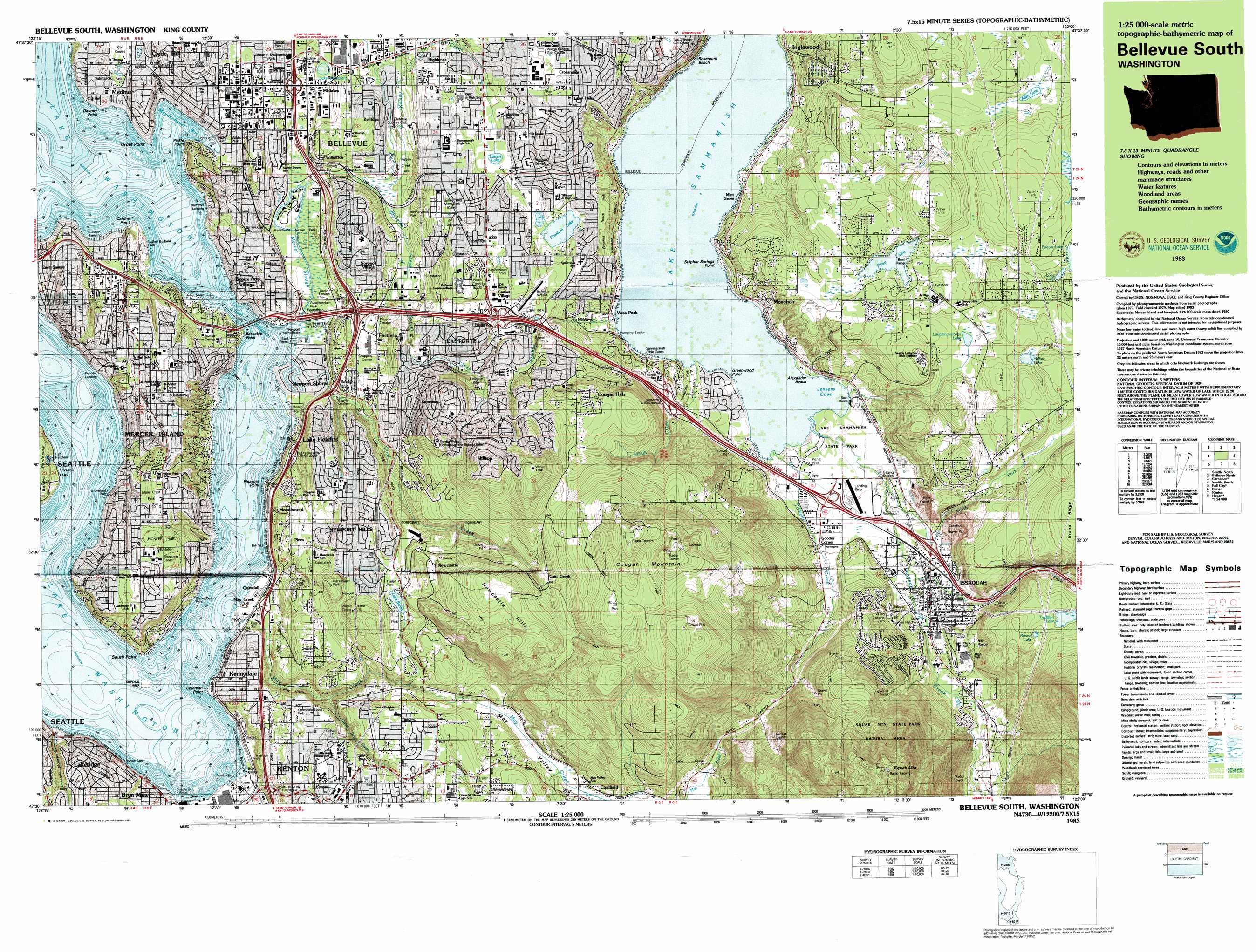 K E on Lake George Topographic Map
