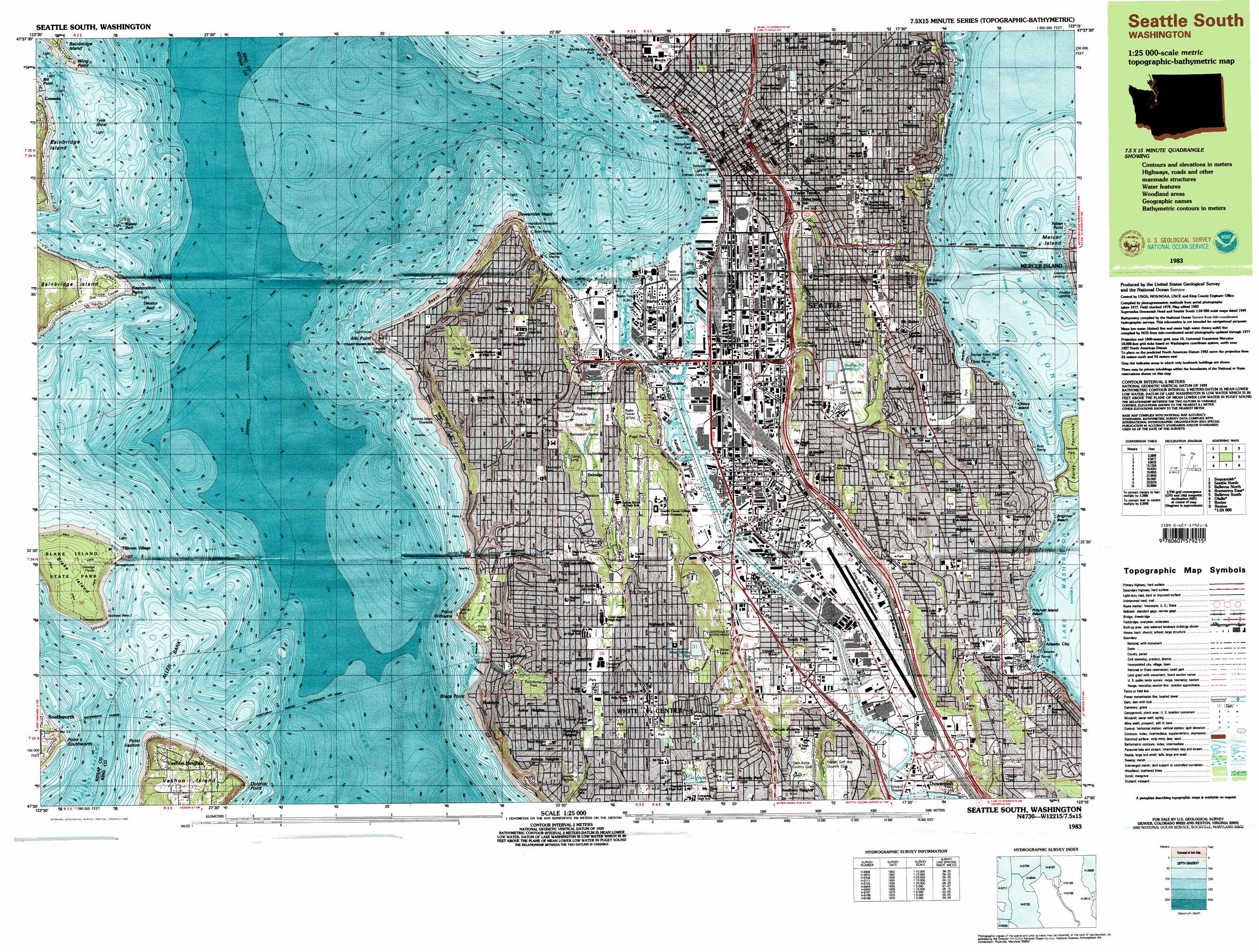 Seattle South topographic map WA USGS Topo Quad 47122e3