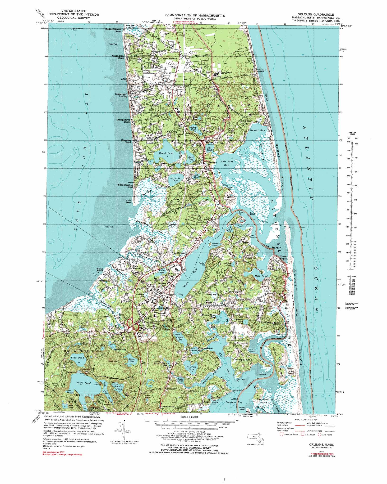 Orleans Topographic Map MA USGS Topo Quad G - Us geological survey topographic maps for sale