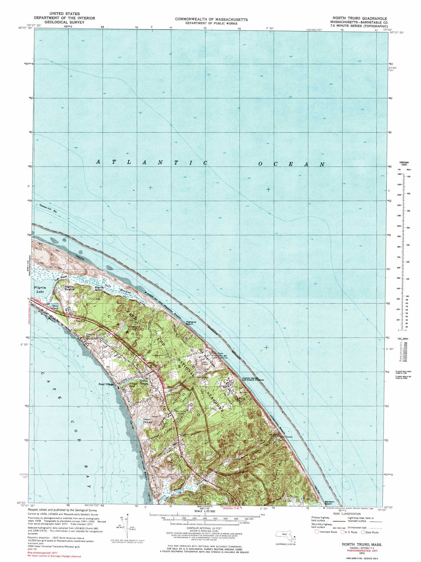 North Truro topographic map MA USGS Topo Quad 42070a1