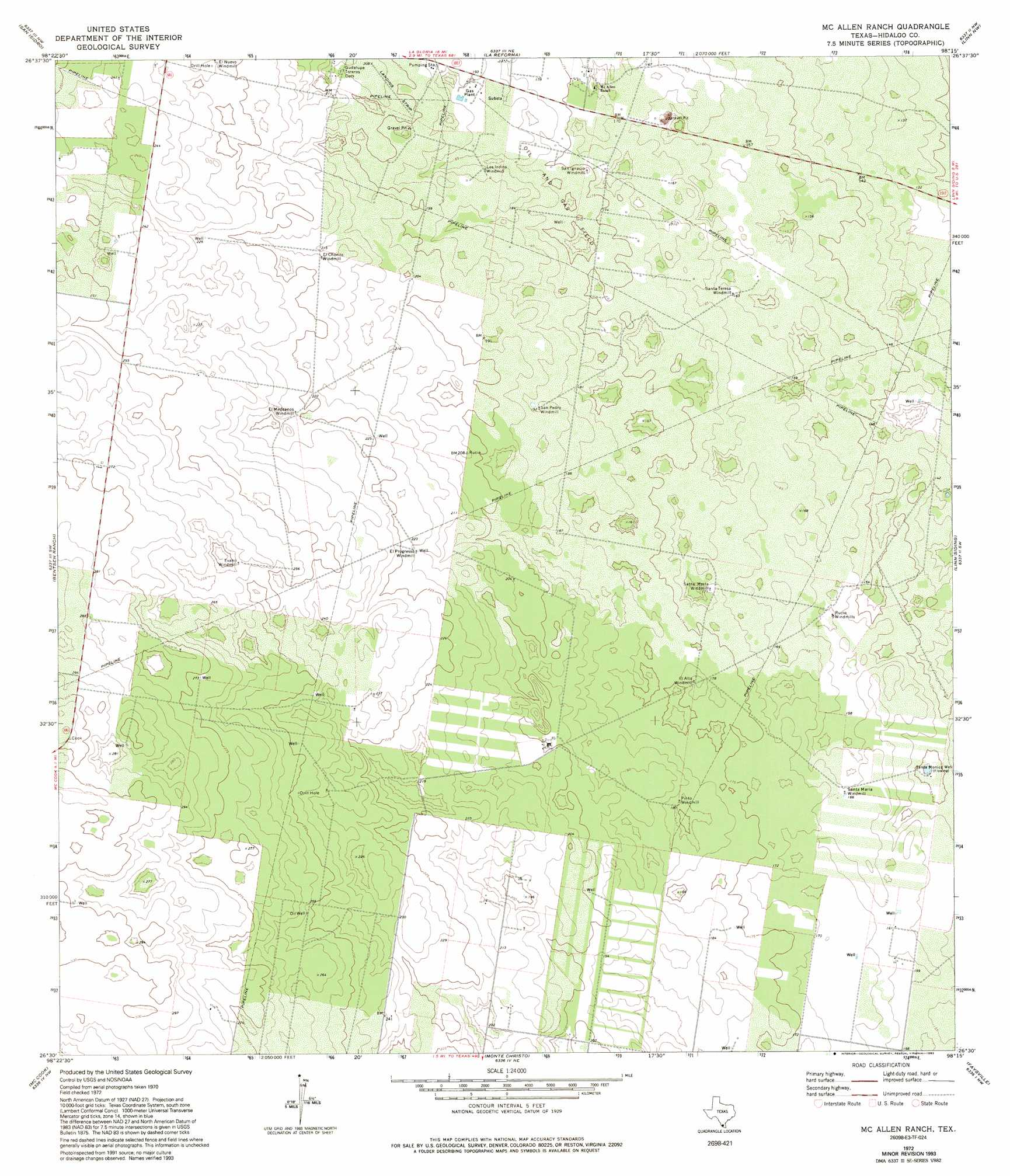 McAllen TX Map