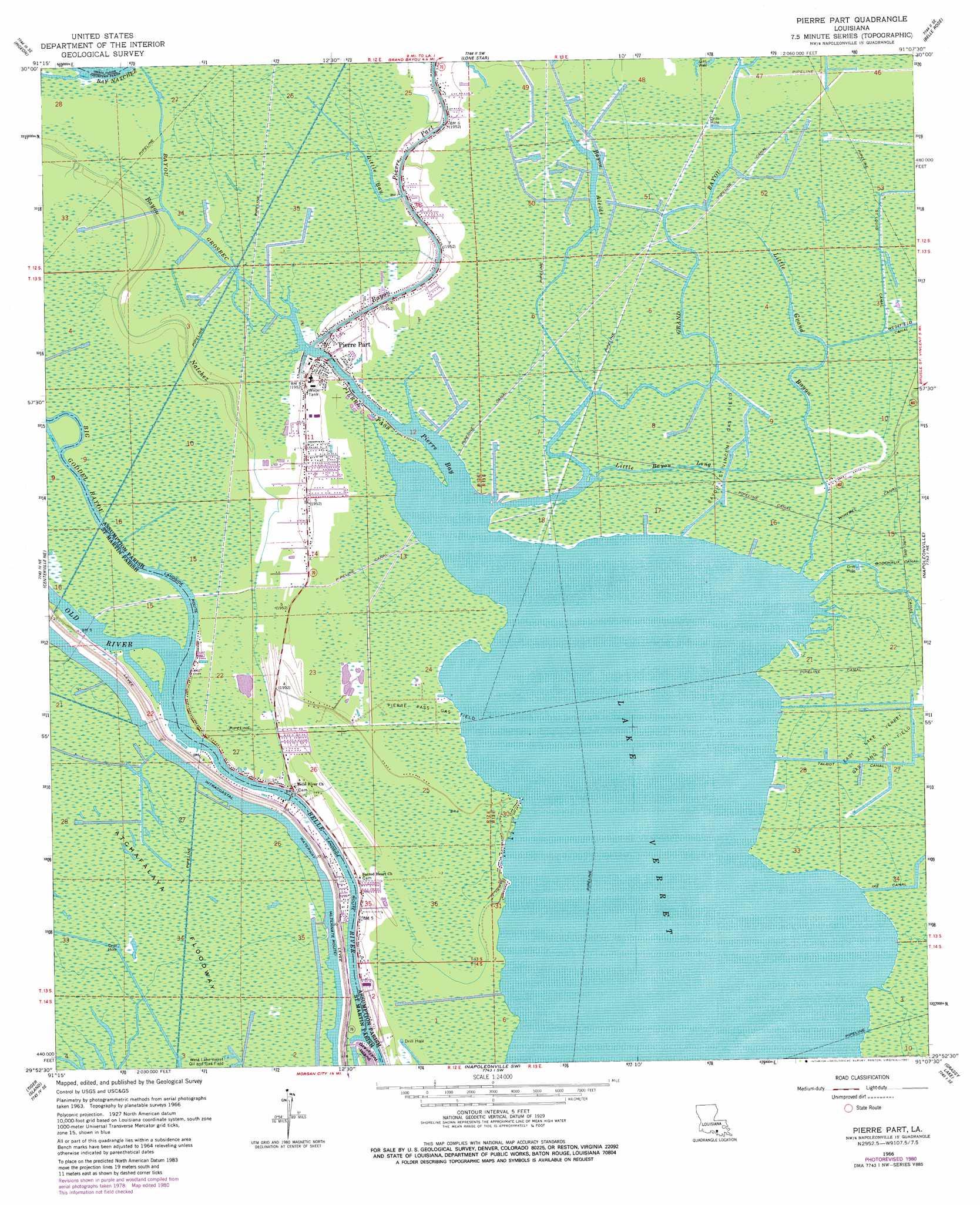 Pierre Part Topographic Map La Usgs Topo Quad 29091h2