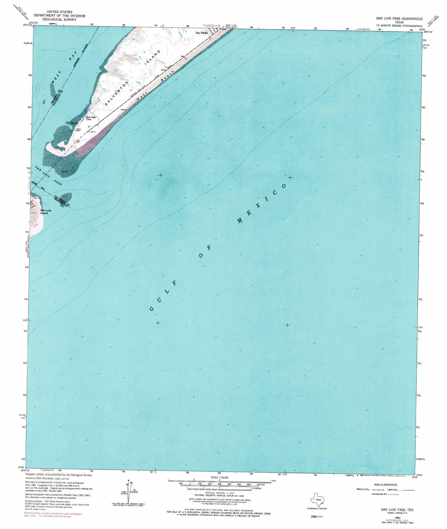 San Luis P topographic map, TX - USGS Topo Quad 29095a1 Map Of Sea Isle Texas on