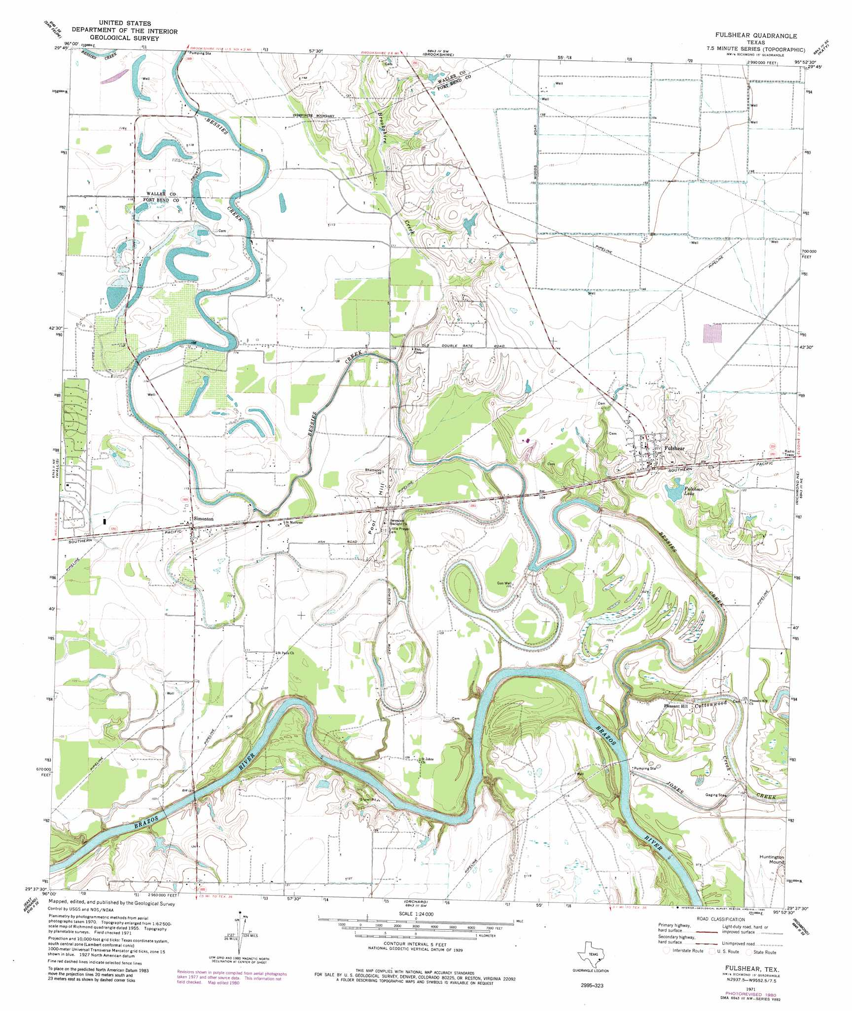 Fulshear topographic map, TX - USGS Topo Quad 29095f8