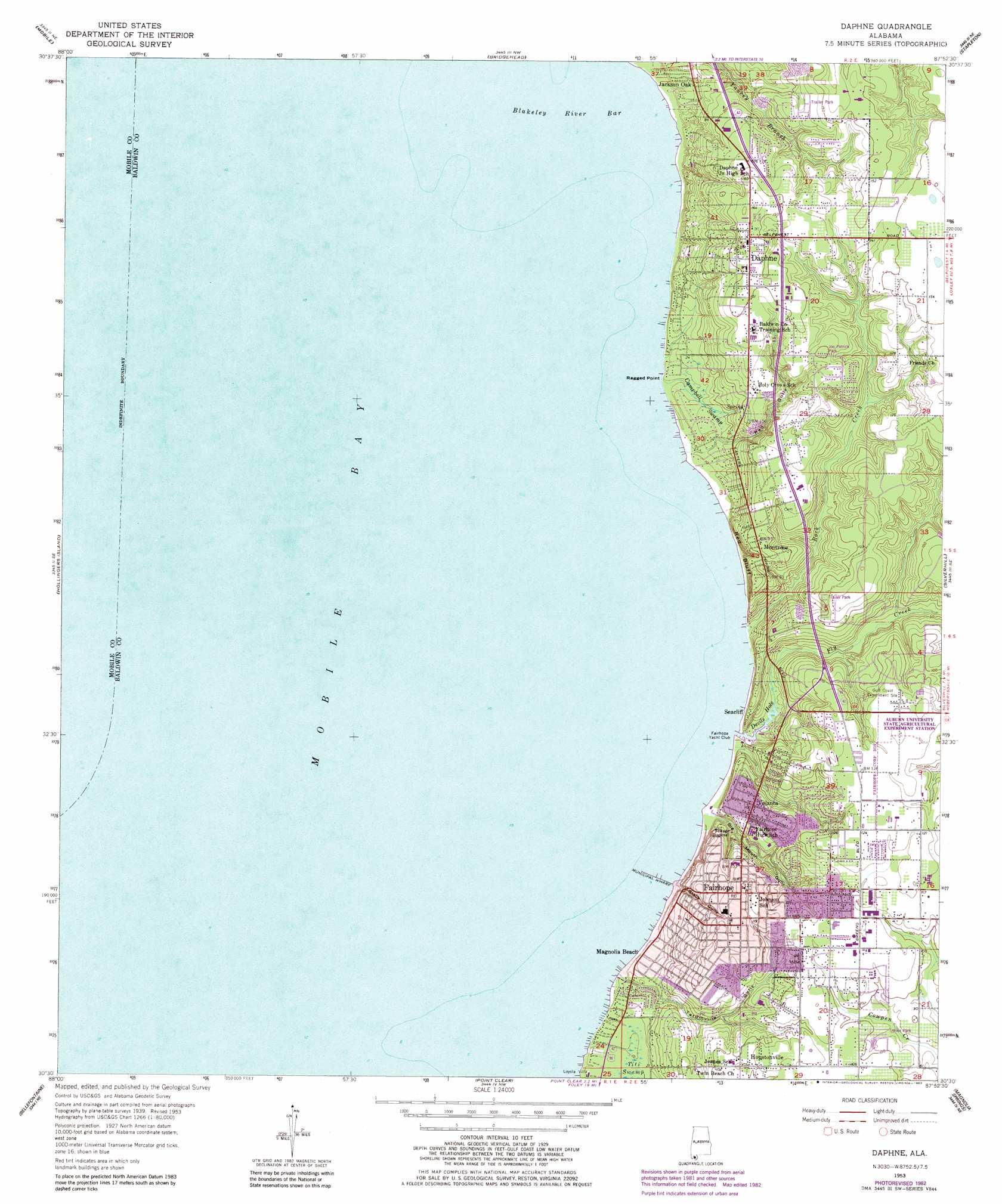 Daphne Alabama: Daphne Topographic Map, AL