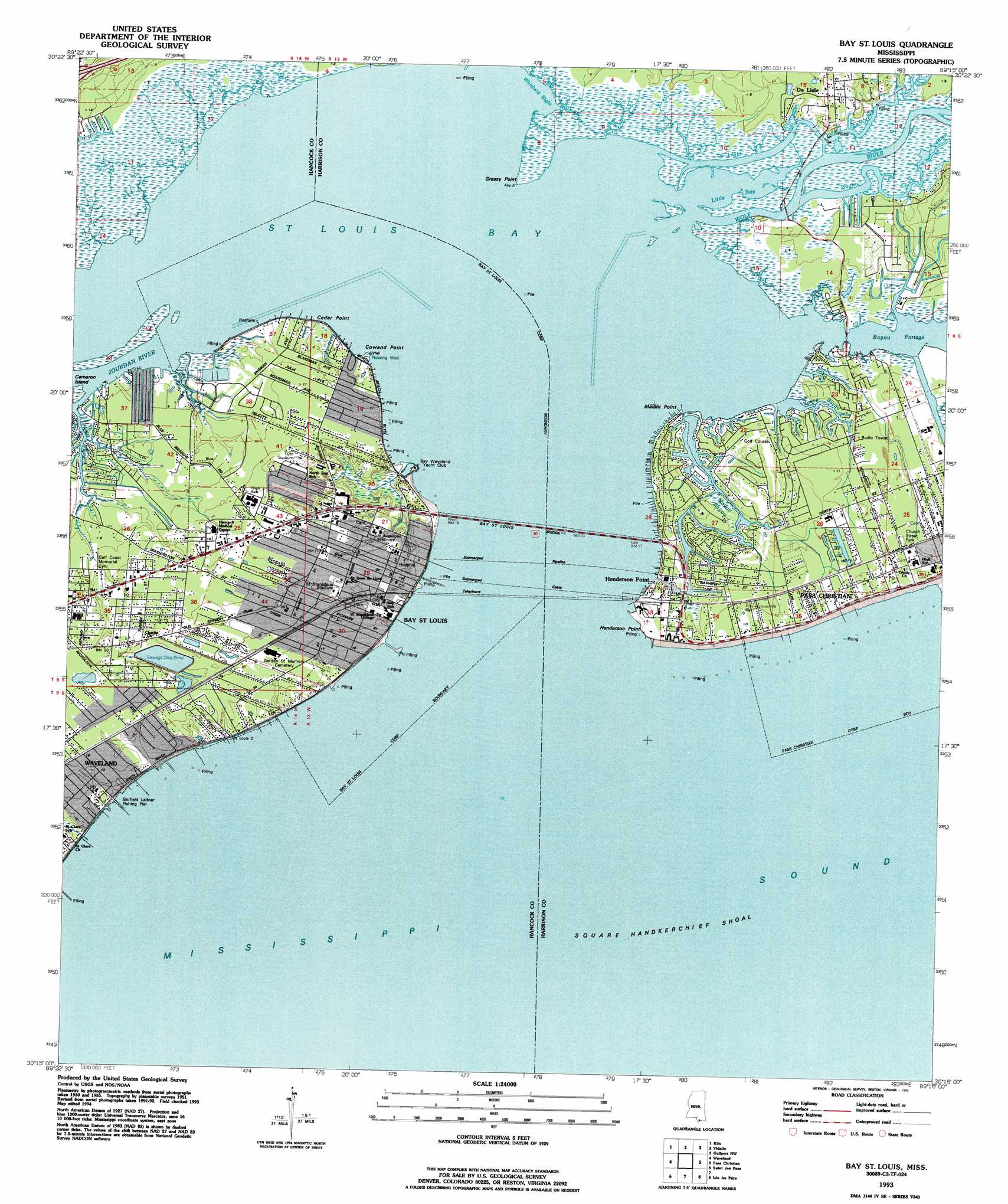 Buy this bay saint louis topo map as a high resolution digital map