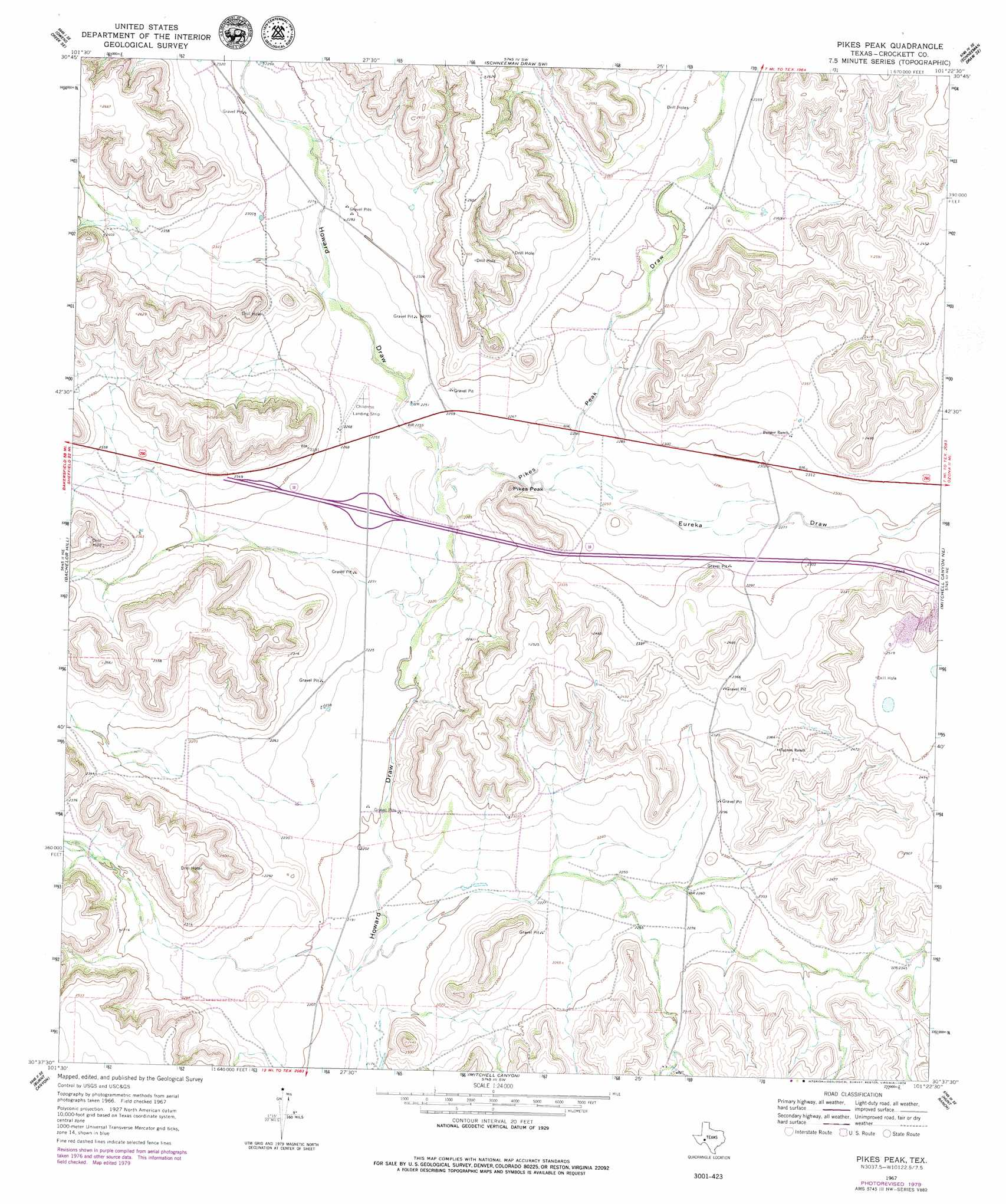 Pikes Peak Topographic Map Tx Usgs Topo Quad 30101f4 - Pikes-peak-on-us-map