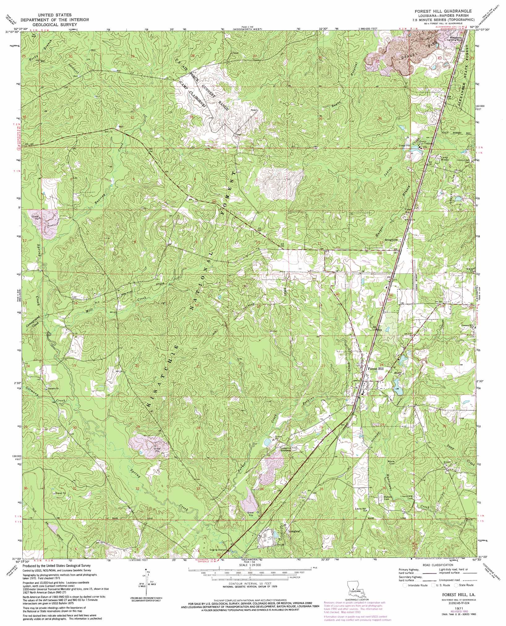 Baton Rouge East Topographic Map west palm beach fl map