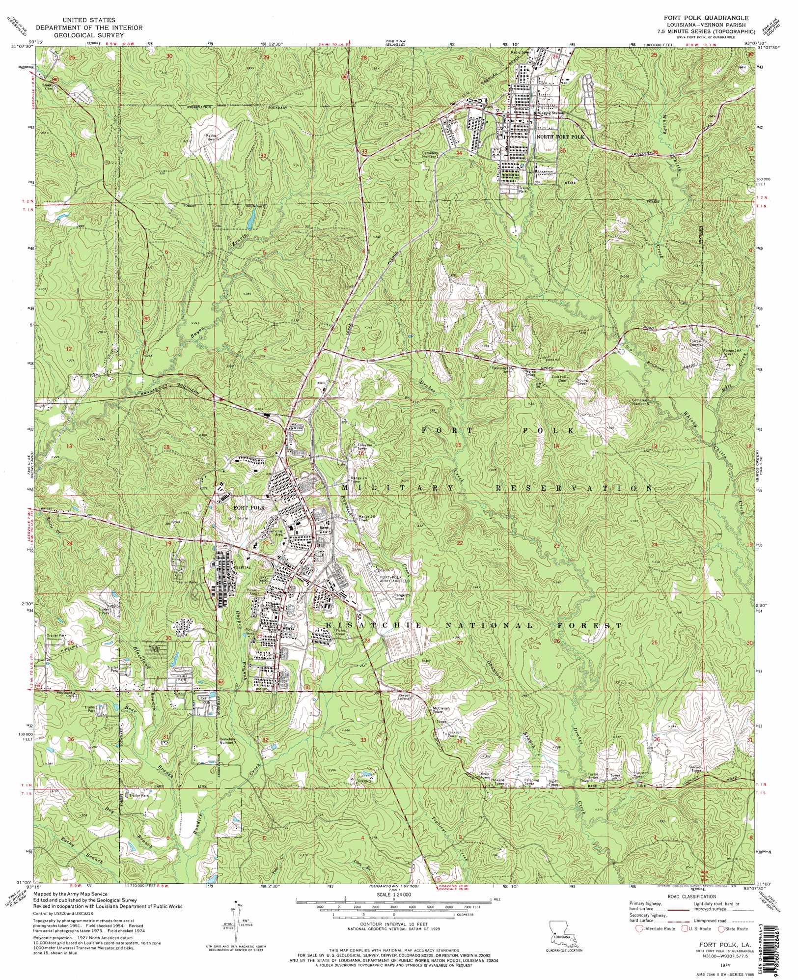 fort polk topographic map la  usgs topo quad a - fort polk