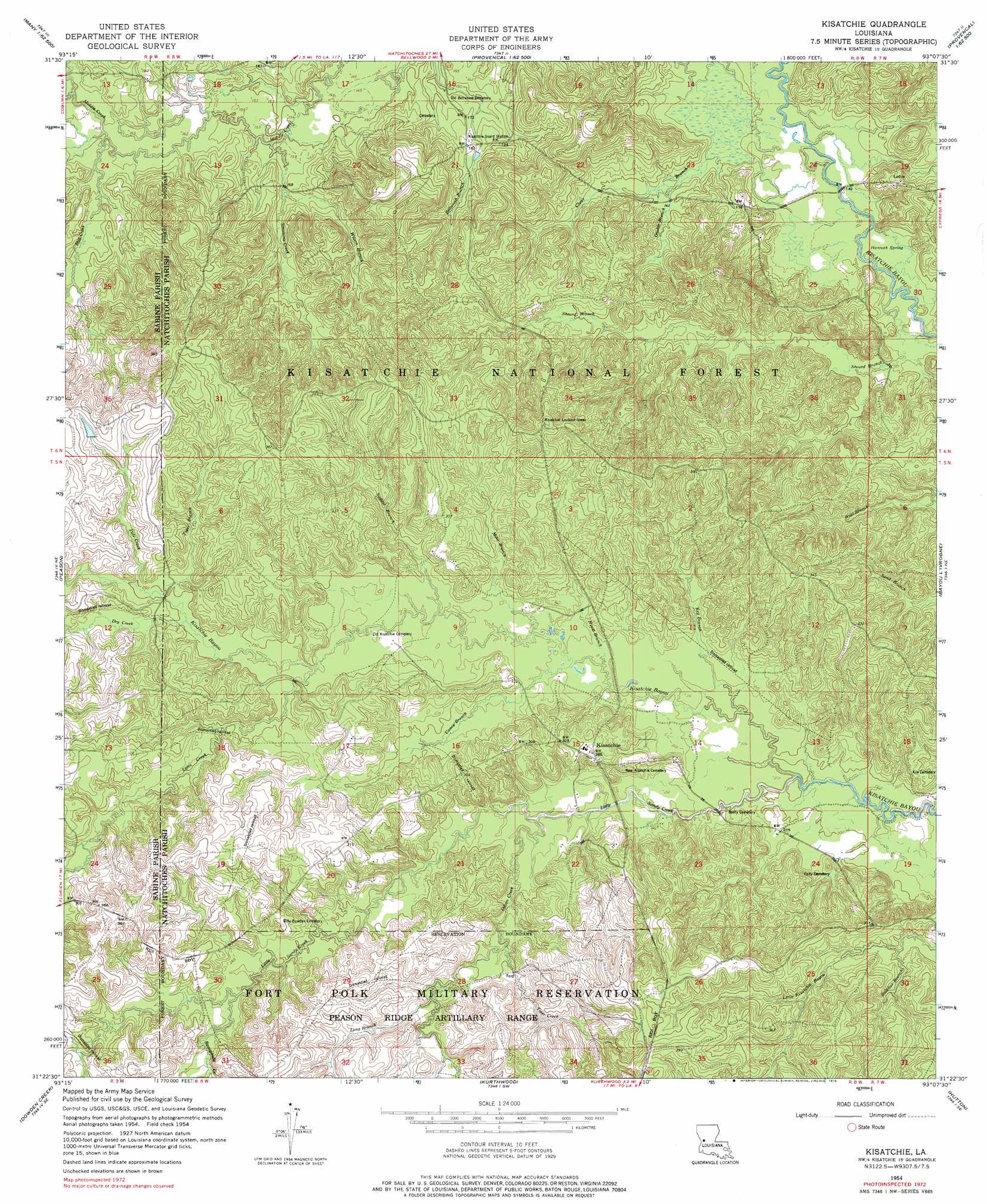 Kisatchie topographic map LA USGS Topo Quad 31093d2