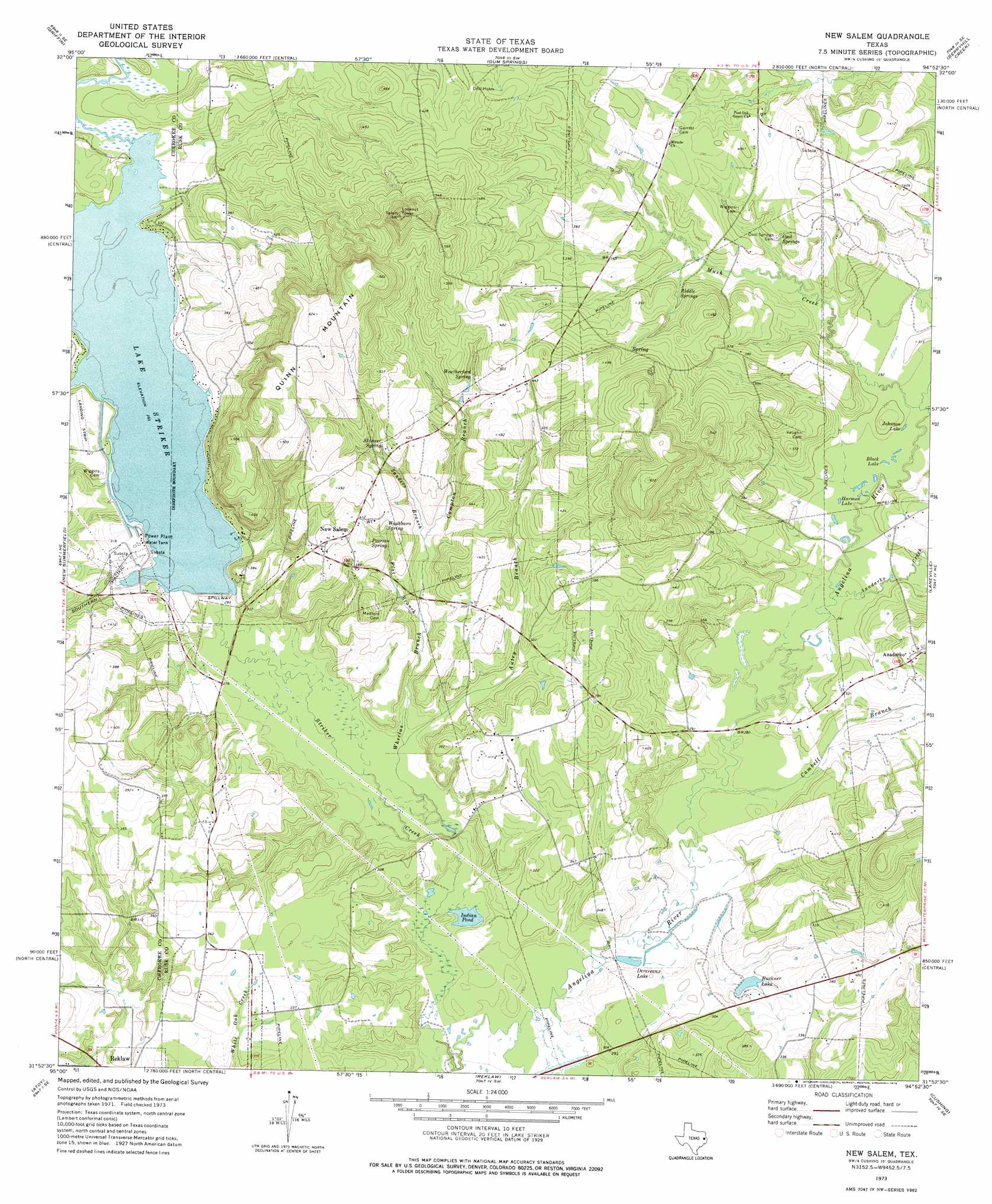 New Salem Topographic Map TX  USGS Topo Quad 31094h8
