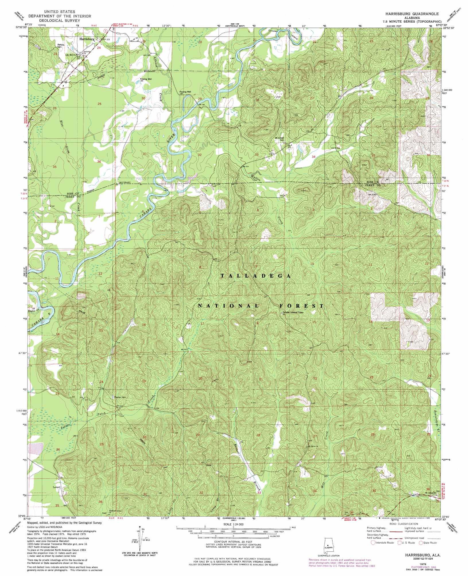 Harrisburg Topographic Map AL  USGS Topo Quad 32087g2