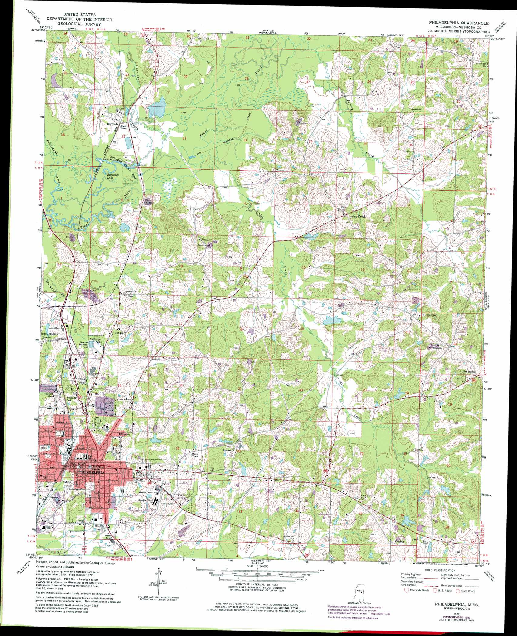 philadelphia. philadelphia topographic map ms  usgs topo quad g